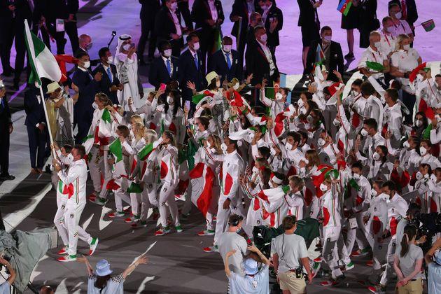 イタリア選手団の入場