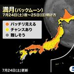 満月「バックムーン」が今夜、土星に接近。各地の観測チャンスは?