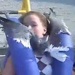 絶叫マシンに乗ってたら、カモメが顔に飛んできた【動画】