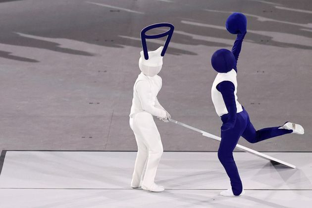픽토그램 재현하는 2020 도쿄 올림픽 개회식