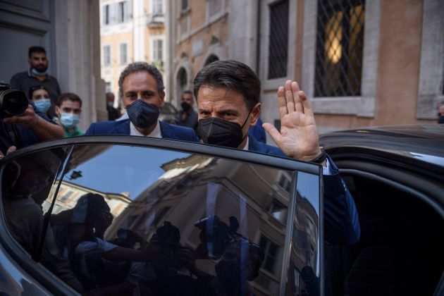 ROME, ITALY - JUNE 28: Former Prime Minister Giuseppe Conte attends a press conference to discuss his...