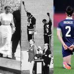 """片膝つく抗議が容認されるまで。オリンピックが""""示威行為""""を禁じた1952年の出来事"""