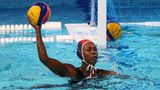 Ashleigh Johnson in action during the U.S. team's historic rout of Japan.