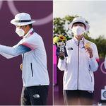 대한민국에 '첫 금메달'을 안겨준 양궁 대표팀 김제덕과 안산이 '셀프' 시상식에서 보여준 모습은
