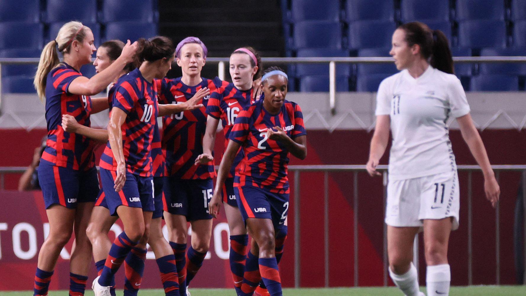 'They're Back': U.S. Women Trounce New Zealand In Soccer
