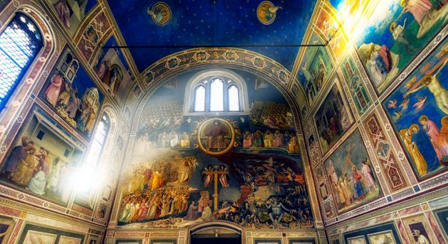 The Scrovegni Chapel and frescoes by Giotto in Padua,