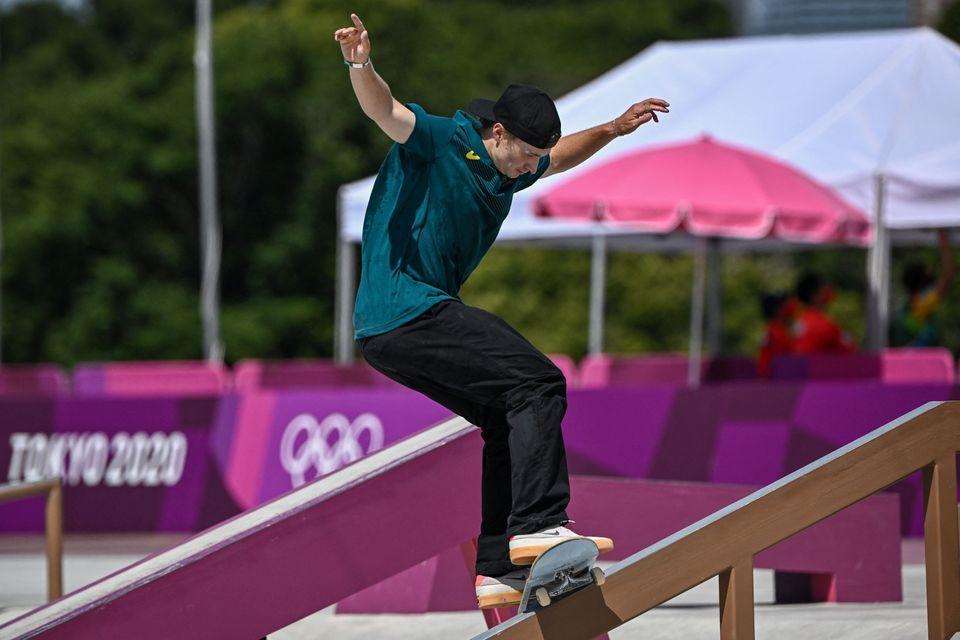 Australia's Shane O'Neill competes in the men's street prelims heat
