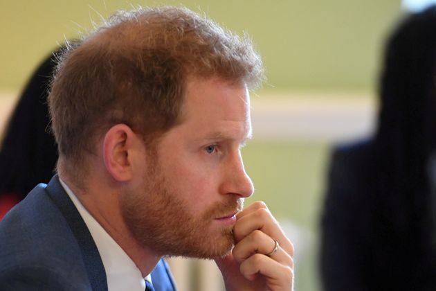 Britain's Prince Harry, Duke of Sussex, attends a roundtable discussion on gender equality with The Queen's...