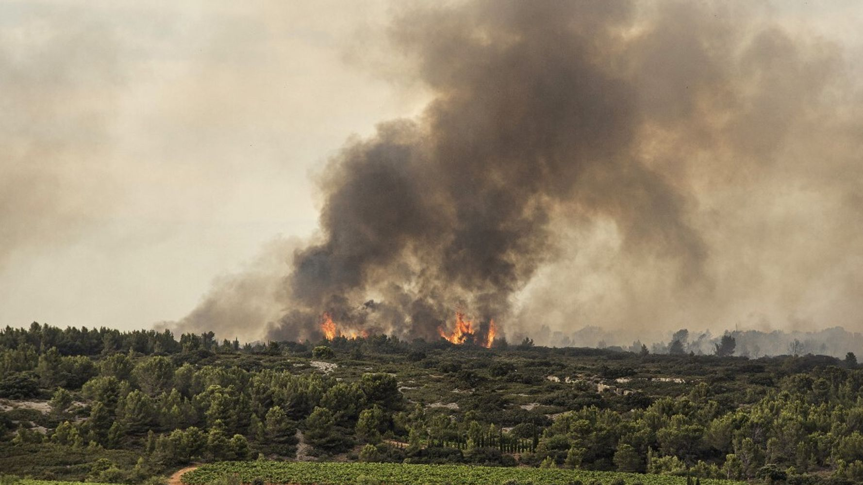 L'incendie dans l'Aude