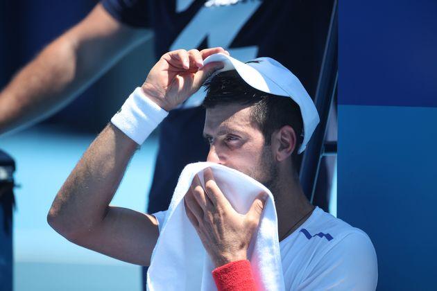 Novak Djokovic , ici le 22 juillet, veut réorganiser les matchs aux JO de Tokyo pour éviter...