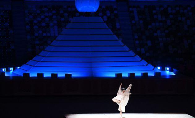 オリンピック開会式でパフォーマンスした森山未來さん