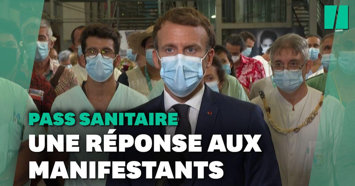 """""""La liberté où je ne dois rien à personne n'existe pas"""", lance Macron après les manifestations"""