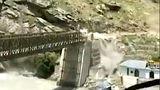 Boulder crashes near Batseri Bridge in Indian state of Himachal Pradesh.