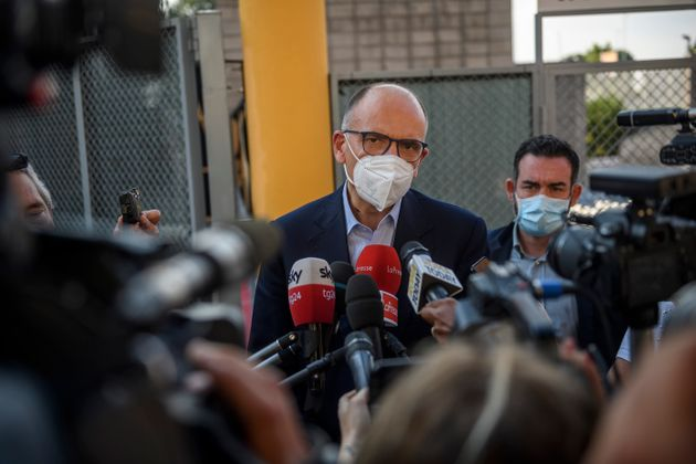 ROME, ITALY - JUNE 14: Enrico Letta, General Secretary of the Democratic Party (PD), speaks to the media...