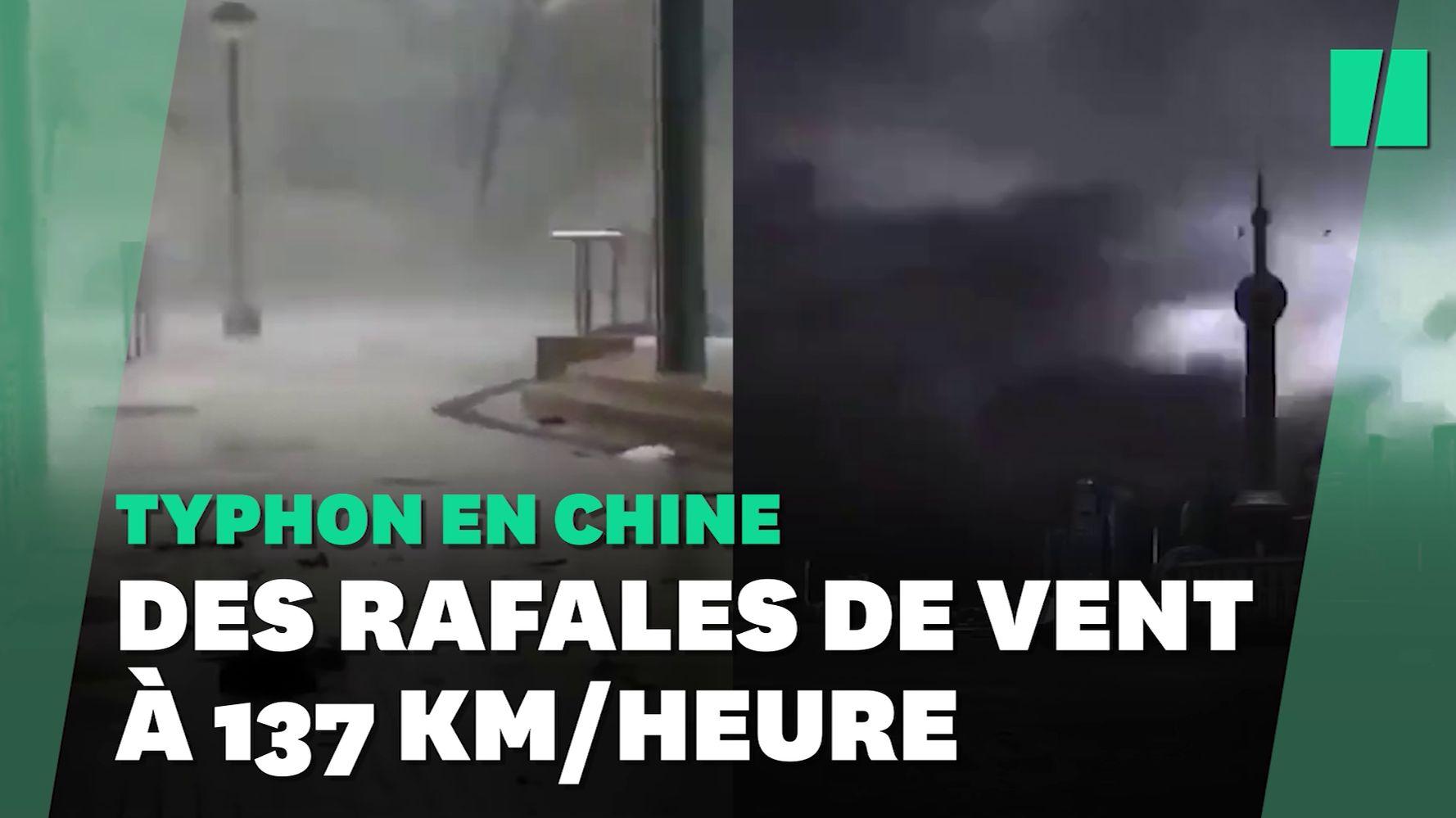 Le typhon In-Fa balaye Shanghai et l'Est de la Chine