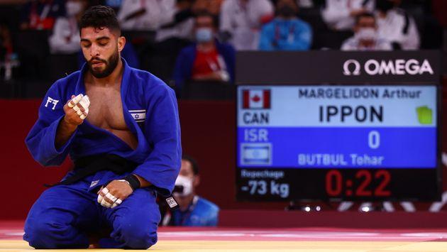 Tokyo 2020 Olympics - Judo - Men's 73kg - Repechage Round - Nippon Budokan - Tokyo, Japan - July 26,...
