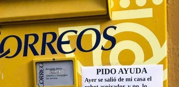 El cartel publicado en una calle de