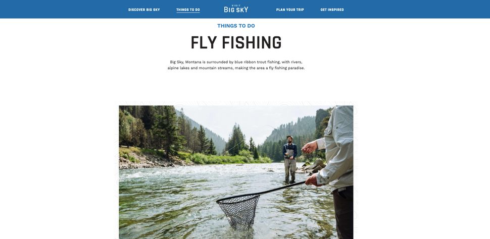 """The community's marketing arm, Visit Big Sky, advertises the community as a """"fly fishing paradise"""" on its w"""