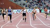 BRUSSELS, BELGIUM - SEPTEMBER 6: Paralympic athletes compete in 100 meters during the IAAF Diamond League at Roi Baudouin Stadium in Brussels, Belgium on September 6, 2019.  (Photo by Dursun Aydemir/Anadolu Agency via Getty Images)