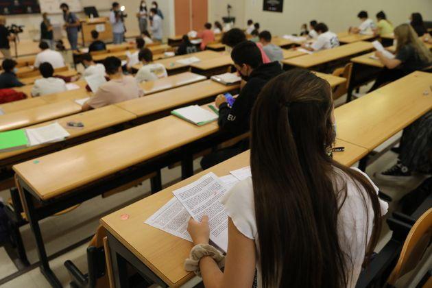 Estudiantes en Selectividad, en Madrid, el pasado 7 de