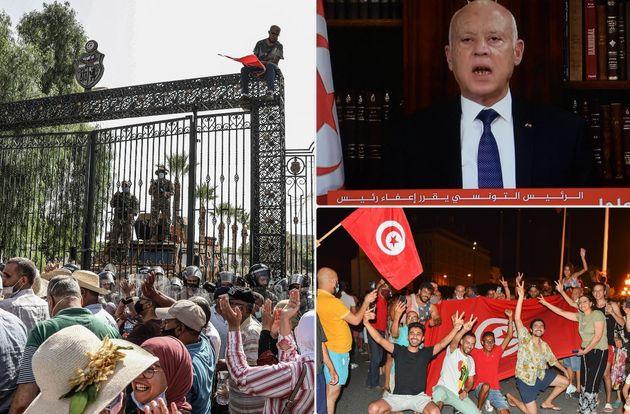 Reazioni all'annuncio del presidente Saied in
