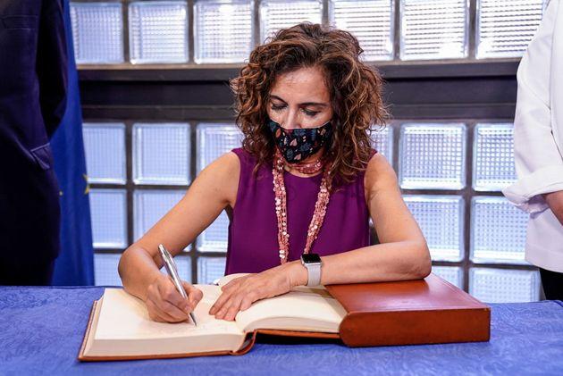 La ministra de Hacienda, María Jesús Montero, el pasado 14 de julio en