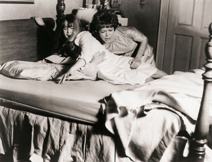 """Linda Blair (left) and Ellen Burstyn in 1973's """"The Exorcist,"""" widely regarded as one of the scariest movies ever made."""