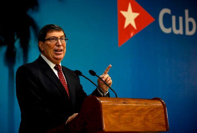El ministro de Relaciones Exteriores de Cuba, Bruno
