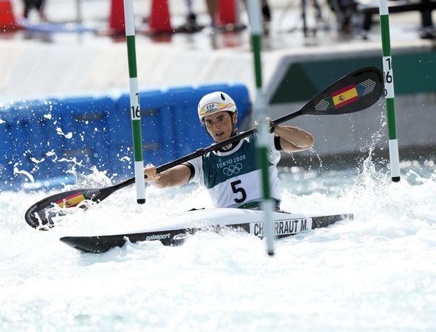 Mailen Chourraut, durante la semifinal en