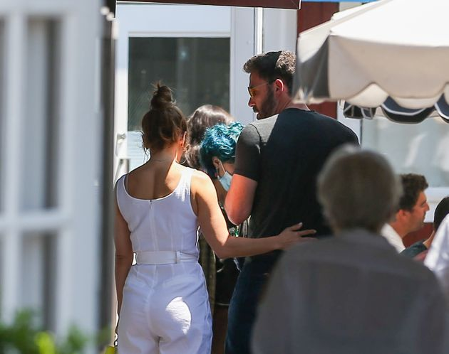 Jennifer Lopez and Ben Affleck are seen on July 09, 2021 in Los