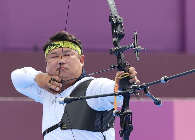 도쿄올림픽 양궁 남자 단체전 금메달 획득한 오진혁은 마지막 화살을 쏘자마자