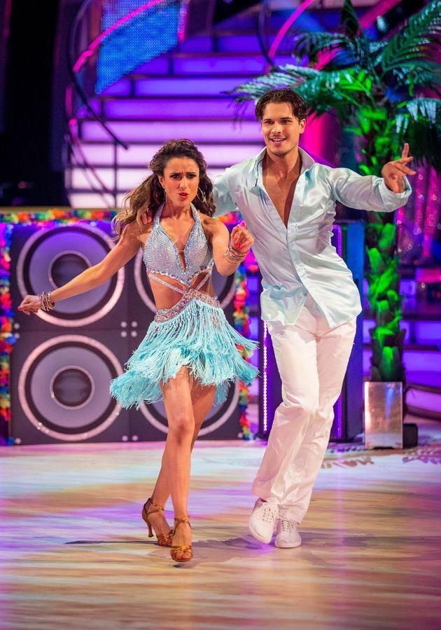 Anita with dance parter Gleb Savchenko on the