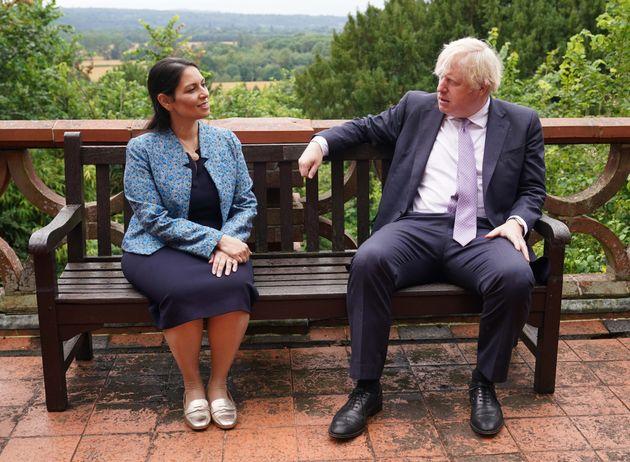 Prime Minister Boris Johnson and Home Secretary Priti