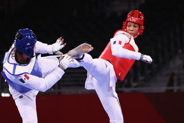 Althéa Laurin, ici lors de son huitième de finale, a remporté la médaille...