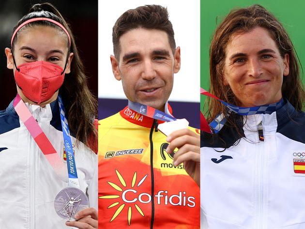 Adriana Cerezo, David Valero y Maialen Chourraut, los tres