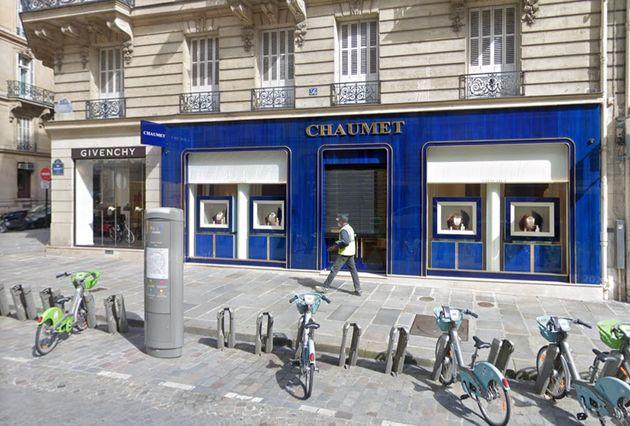 La bijouterie Chaumet à Paris.