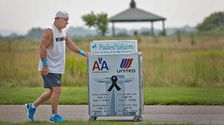 Man Honors 9/11 Crews By Pushing Drink Cart From Boston To New York