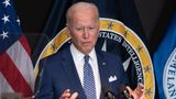 US President Joe Biden addresses the Intelligence Community workforce and its leadership while on a tour at the Office of the Director of National Intelligence in McLean, Virginia, on July 27, 2021. (Photo by SAUL LOEB / AFP) (Photo by SAUL LOEB/AFP via Getty Images)