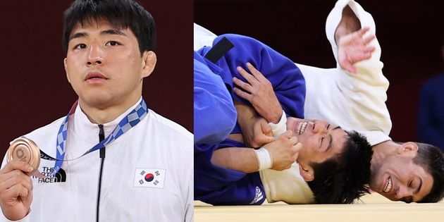 안창림 선수가 '2020 도쿄올림픽' 73kg 유도 남자 동메달 결정전에서 아제르바이잔 오르조프를 꺾고 동메달을 차지했다.