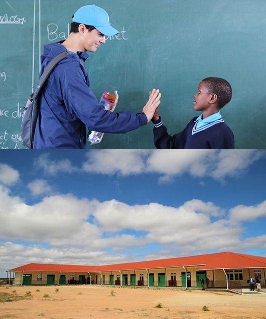 2019년 탄자니아 싱기다 뉴비전스쿨을 방문한 조인성.배우 조인성이 기부금 5억을 내 동아프리카 탄자니아에 학교를 만들었다. 학교는 2018년 완공돼 이미 운영 중이다....
