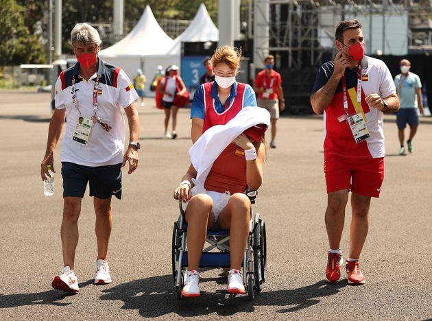 Paula Badosa, tras su retirada en el duelo de cuartos de