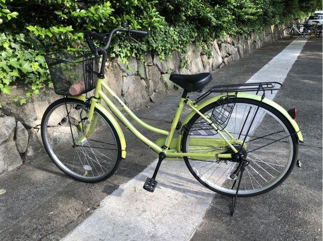 母の移住先での移動手段は、新しく入手した自転車