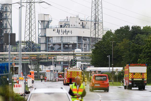 Fachada de la planta química de Leverkusen en la que se produjo la