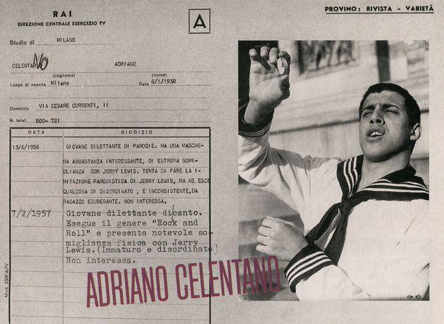 La scheda della Rai con i due giudizi negativi su Adriano Celentano (foto Musica e Dischi, archivio Fiore)