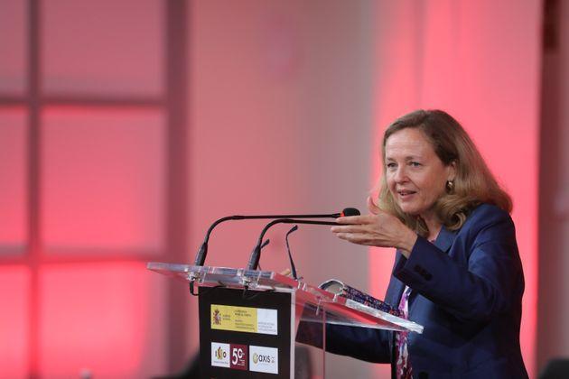 La vicepresidenta primera y ministra de Asuntos Económicos, Nadia