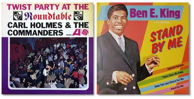 Le copertine dell'album di Carl Holmes and The Commanders e di Stand By Me di Ben E. King