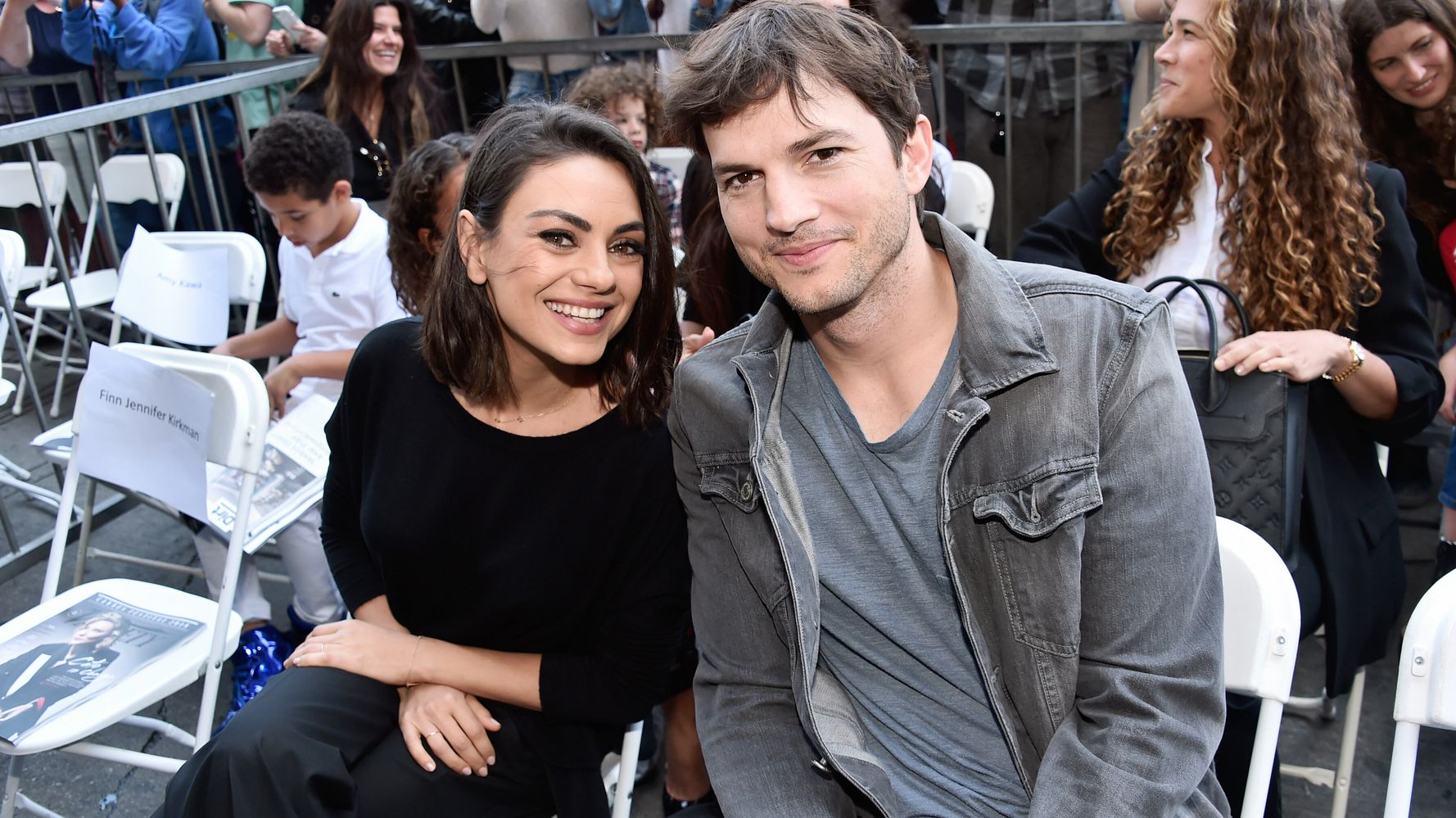Sorry Ashton Kutcher, You Should Probably Wash Your Kids Before They're Visibly Dirty