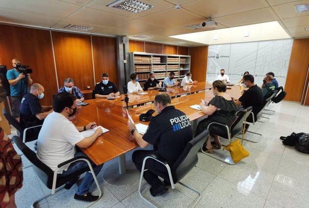 La reunión celebrada este martes con integrantes del Consell Insular de Ibiza y representantes...