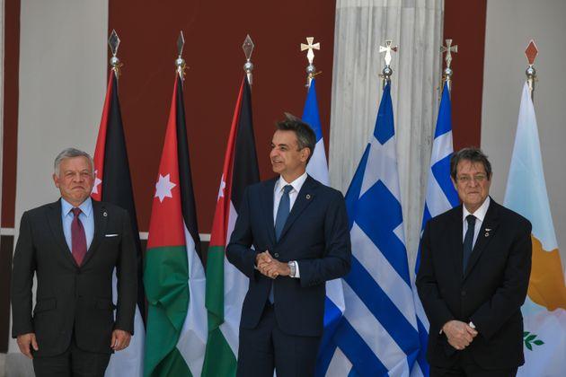 Τριμερής Σύνοδος Κορυφής Ελλάδας - Κύπρου - Ιορδανίας με τη συμμετοχή του Πρωθυπουργού Κυριάκου Μητσοτάκη,...