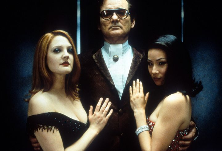 """Bill Murray with Drew Barrymore and Lucy Liu in a publicity portrait for """"Charlie's Angels."""""""